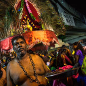 Thaipusam day prayers — Stock Photo