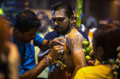 Rituals of Thaipusam day prayers — Stockfoto