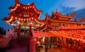 Thean Hou Temple in Kuala Lumpur at night during Chinese New Year — Стоковое фото