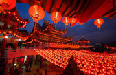 Thean Hou Temple in Kuala Lumpur at night during Chinese New Year — Stock fotografie
