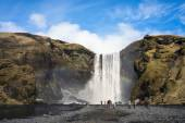 Skogafoss Waterfalls, Iceland — Stockfoto