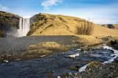 Skogafoss waterfalls, Iceland — Stock Photo