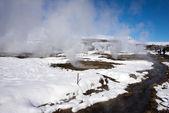 Geyser and Hotspring pools, Iceland — Stockfoto