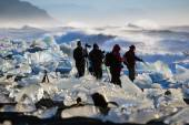 Editorial: tourists in Iceland — Stockfoto