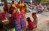 Buddhist monks in Thailand — Stock Photo
