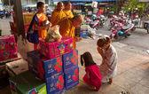 Buddhist monks in Thailand — Stock Photo
