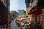 Narrow alleys between buildings cut in Guangxi — Stock Photo