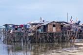 Sea gypsy homes — Stock Photo