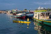 Fisherman's boats at the port of Semporna, Sabah — Stock Photo