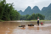Traveling on the Lijang River in Guilin, China — Stock Photo
