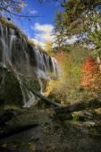Jiuzhigao waterfalls — Stock Photo
