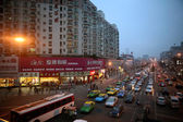 Cars and buses in Sichuan, China — Stock Photo