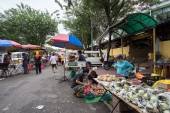 Morning open market in Malaysia — Stock Photo
