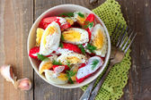 Tomatoes and eggs salad  — Stock Photo