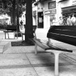 Three benches in the street — Stock Photo #58376539