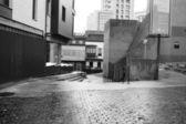 Calle en blanco y negro — Foto de Stock