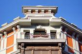 Beautiful facade with sunlight — Stock Photo