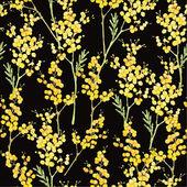 Seamless pattern with mimosa — Vetor de Stock