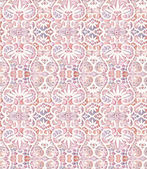 Watercolor pink lace seamless pattern — Stock Vector