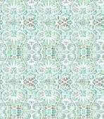 Watercolor green lace seamless pattern — Stock Vector