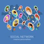 Постер, плакат: Creative social network concept