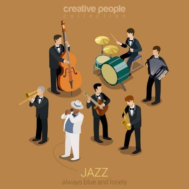 Jazz music band concept
