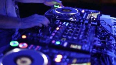 DJ mixer at the club — Stock Video