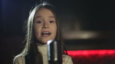 Video production the music clip for the child music stars. SLOW MOTION — Stock Video