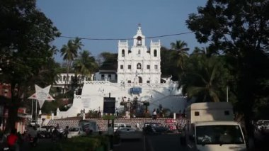INDIA, GOA - 2012: India, Goa, Church of Mary Immaculate Conception in Panaji — Stock Video