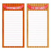 Shopping and to do list template — Stock Vector