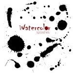 Watercolor splatters. Isolated vector splashes — Stock Vector #56218845