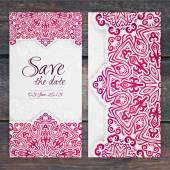 Lacy wedding card — Stock Vector