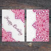 Lacy Geburtstagskarte — Stockvektor