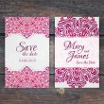 Romantic vintage  invitation — Stock Vector #74090903