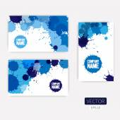 Templates with watercolor paint — Stock Vector