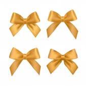 Gold satin ribbons — Stock Vector