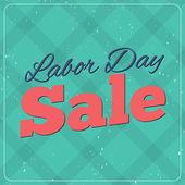 Labor Day Sale design poster. — Stock Vector