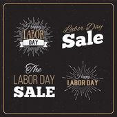 Labor Day Sale designs set. — Stock Vector