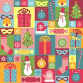 Seamless Christmas pattern for children. It can be used for deco — Stock Vector
