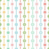 Seamless vector pattern: Christmas garland on a white background — Stock Vector