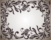 Frame with swirls and floral motifs in retro style — Stock Photo