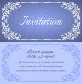 Elegant invitation layout with vintage frames. There is a place — Stock Vector