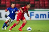 AFC U-16 Championship between Thailand and Malaysia — Foto de Stock