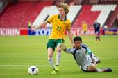 AFC U-16 Championship between Australia and Japan — Photo