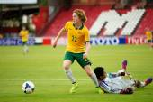 AFC U-16 Championship between Australia and Japan — ストック写真