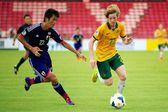 U-16 afc mistrovství mezi austrálií a japonskem — Stock fotografie