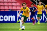 AFC U-16 Championship between Australia and Japan — Stock Photo