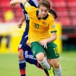 Постер, плакат: AFC U 16 Championship between Australia and Japan