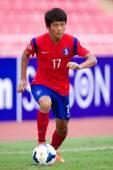 AFC U-16 Championship Korea Republic and Syria — Stock Photo