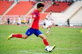 Afc mistrovství u-16 Korejská republika a Sýrie — Stock fotografie